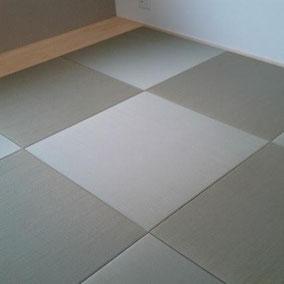 琉球畳(縁無し畳) 半畳9枚 市松敷き 天然いぐさ使用 畳新調 拡大します
