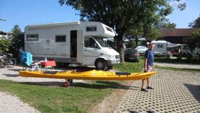 Ersteinsatz des neuen Seekajak am Chiemsee