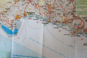 Übersichtskarte von Cinque Terre