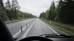 Typisch schwedische Straße (hier die 23er)