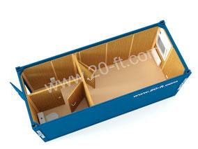 Блок-контейнер ТР20 с сан узлом