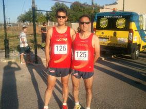 Carlos Nicot y Jaime Astals, momentos previos a la prueba.