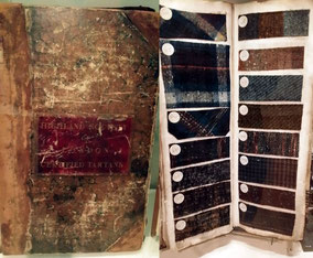 Tartan-Verzeichnis und Muster, 19. Jh., National Museum of Scotland