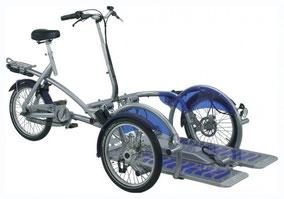 Das Rollstuhlfahrrad Velo Plus 2