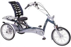 Das Dreirad Easy Rider bietet eine ergonomische Sitzanordung