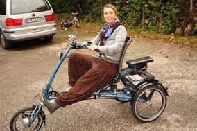 Sicher unterwegs mit einem Dreirad