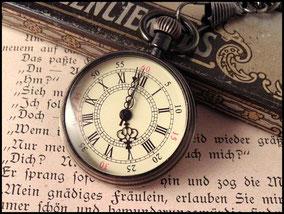 Taschenuhr ohne Deckel mit wunserschönem Ziffernblatt