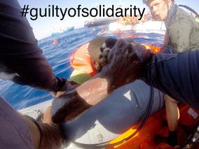 #guiltyofsolidarity   Rettungsschiff IUVENTA im Mittelmeer  Bild:iuventa scrst FB we are iuventa 10