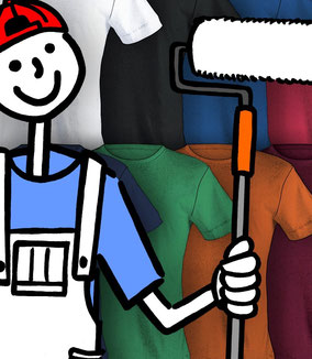 Strichpunkt Shirt-Farben