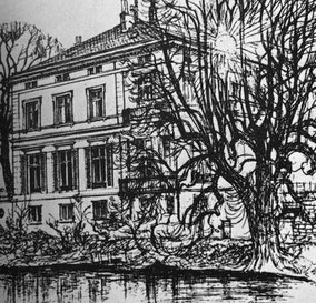 Zeichnung  Gästehaus des Hamburger Senats