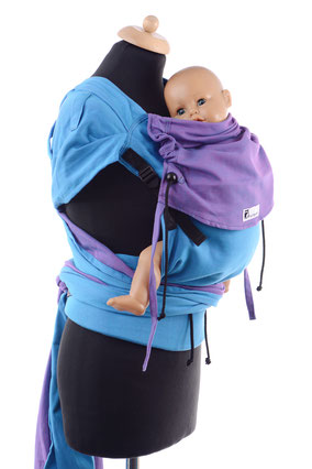 Huckepack Wrap Tai, wrap conversion, babycarrier with adjustable panel, expanded shoulder straps, ergonomic hipbelt