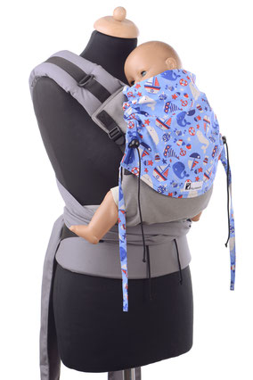 Half Buckle, soft structured baybcarriers, adjustable panel, well padded straps and hipbelt.