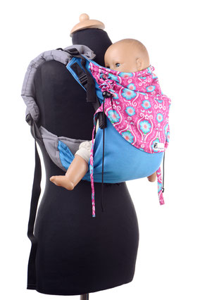 Huckepack Onbuhimo babycarrier, very adjustable panel, wrap conversion, well padded shoulder straps, no hipbelt