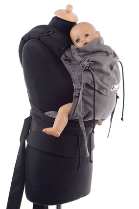 Huckepack Half Buckle, babycarriers, adjustable panel, well padded should straps, ergonomic hipbelt with buckle, many designs available