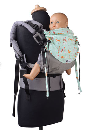 Huckepack Full Buckle, SSC babycarier, adjustable, grows with your child, well padded straps and hipbelt