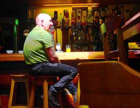 Mittelpunkts eines Pubs - die Bar