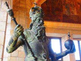 Karl der Grosse mit dem Reichszepter