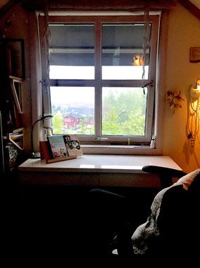 Hier an diesem Schreibtisch ist der Roman entstanden.