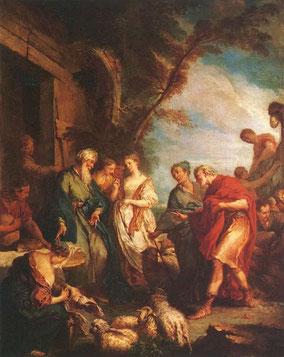 Rébecca recevant les présents d'Abraham,  1727, François Boucher (1703-1770), musée du Louvre, Paris.