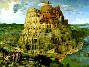 """La """"grande tour"""", 1563, Pieter Bruegel (1525-1569), Huile sur bois, Kunsthistorisches Museum de Vienne."""