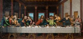 La Cène, 1495-1498, Léonard de Vinci (1452-1519), fresque, couvent Santa Maria delle Grazie, Milan, Italie.