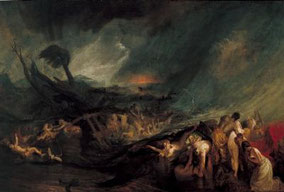 Le déluge, 1805, William Turner (1775-1851), Tate Britain, Londres.