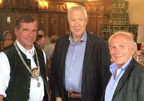 Bg Franz Schnitzenbaumer mit Gerhard Krogoll und Rolf Dombrowski