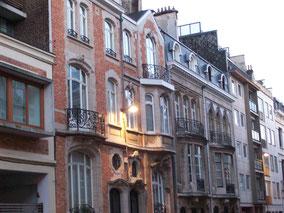 Brüsseler Straßenansicht.