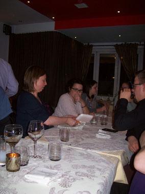 Gemeinsames Abendessen beim Libanesen
