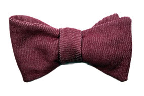 Herren Anzug Fliege zum selberbinden in dunkel rose- rot - jeansfliege - Selbstbinder