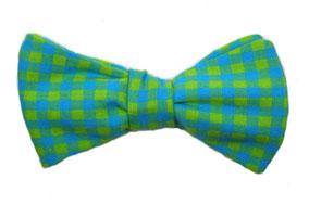 Herren Anzug Schleife zum selberbinden – Selbstbinder Fliege grün gelb blau kariert