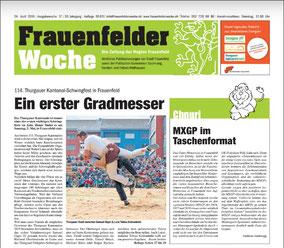 v.l. Züchter Beat Schmid mit Muni Geiges, die Spender Karin und Stefan Geiges
