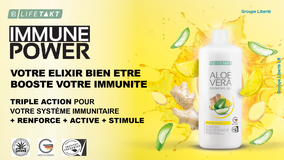 NOUVEAUTE 2019 Le gel d'aloe vera à boire Immune Plus pour booster votre immunité  AloeVeraSante.net Avec LR Health and Beauty Systems
