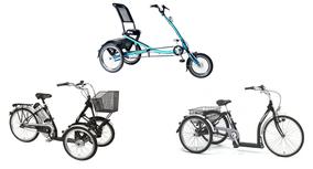Unterschiedliche Dreiradmodelle
