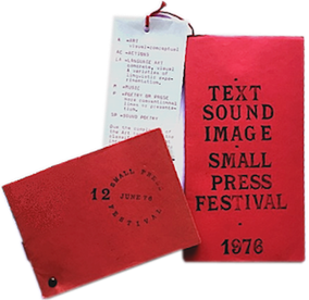 Text Sound Image Small Press Festival: catalogue, programme, Guy Schraenen Catalogue