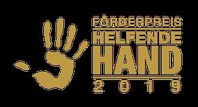 """Logo Förderpreis """"Helfende Hand"""""""