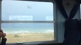 Trenitalia Fenster Ausblick Adria Meer