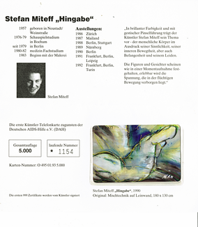 Vorlage für die Telefonkarte: Originalgemälde, Mischtechnik auf Canvas
