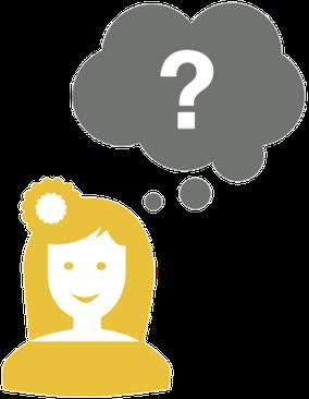 Person mit Fragestellung(Symbol)