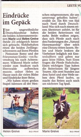 von Werner Fademrecht, erschienen in der NWZ am 01.10.2012