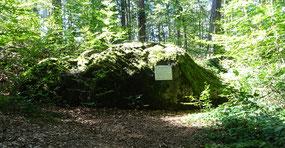 """der """"Graue Stein"""" oberhalb von Ermatingen"""