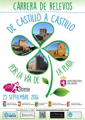 VII CARRERA DE RELEVOS DE CASTILLO A CASTILLO POR LA VÍA DE LA PLATA - Alija-Palacios de la Valduerna, 25-09-2016