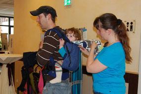 Rückentrageweise mit dem Buzzidil Toddler