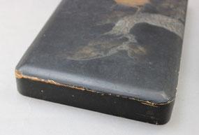 木製硯箱蓋修理前