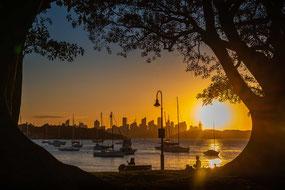 die besten Sonnenuntergänge in Sydney, Sydney, Watsons Bay, Robertson Park, Sunset, Sydney Harbour, Skyline
