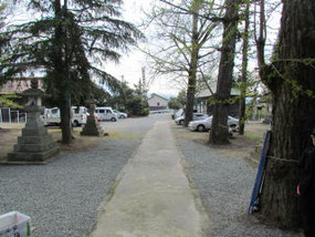米子八幡神社境内参道