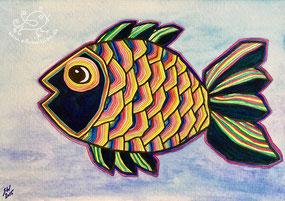 Bunter Fisch, Illustration von silvanillion