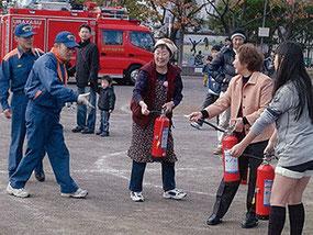 消火器使用訓練