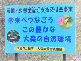 花泉 大森集落 活動がストップしてしまった営農組合。それでも集落の景観は保たれてます。