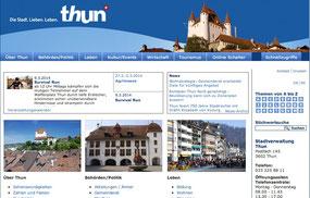 Website der Stadt Thun